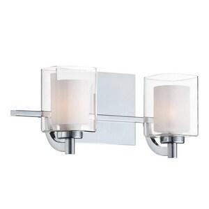 Quoizel Kolt 4.5W 2-Light Wall Mount LED Bath Light in Polished Chrome QKLT8602C