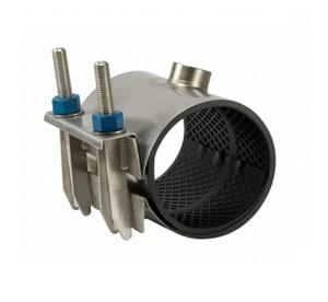 JCM Industries 12 x 15 in. IPT Tap-on-Pipe Stainless Steel Repair Clamp J163132015X07CC