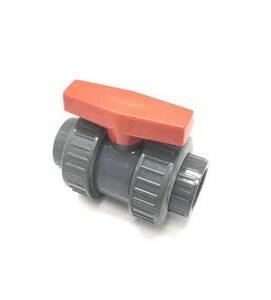 Full Block™ 1-1/2 in. PVC Full Port Slip True Union Schedule 80 Ball Valve with PTFE Seat CV17101N
