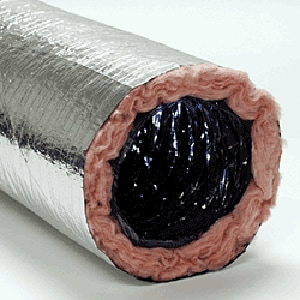 Royal Metal Products 18 in. x 25 ft. Polyester R4.2 Flexible Air Duct R901R418