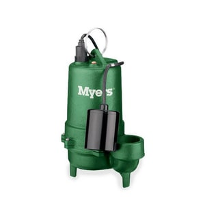 Myers ME40 Series 1/2 hp 115V Cast Iron Effluent Pump MME40PC11CI