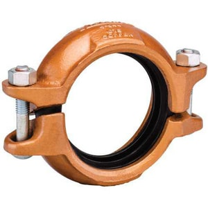 Victaulic FireLock™ Style 644 3 in. Grooved 300 psi Alkyd Enamel Ductile Iron Transitional Coupling VL030644PE0-NR