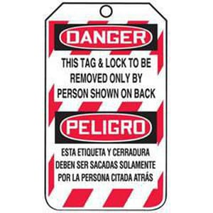 Accuform Signs Safety Lockout TAG DNGR TAG & LCK AMSPT505PTP at Pollardwater