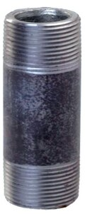 1-1/4 x 7-1/2 in. Threaded Black Carbon Steel Nipple IBNH712