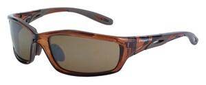 Crossfire Infinity Premium Safety Eyewear with HD Brown Mirror RAD2117 at Pollardwater