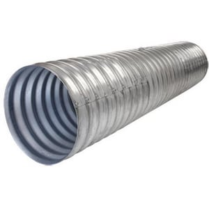Contech Construction 15 in. x 28 ft. Corrugated Steel Corrugated Pipe CMSP161528