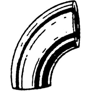 20 in. Weld Standard Long Radius Carbon Steel 90 Degree Elbow DW920