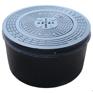 Bass and Hays Foundry Ductile Iron Large plastic Meter Box with Ring and Lid BHP55P18D