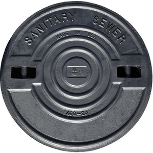 Bass and Hays Foundry 24 in. 400# Sanitary Sewer Lid Only B40024PLASSLO