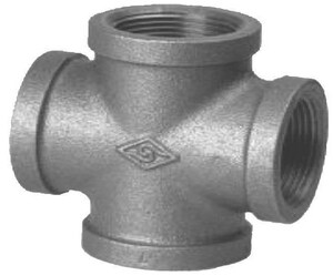 4 in. Threaded 150# Black Malleable Iron Cross IBCRP