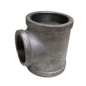 2-1/2 x 2-1/2 x 1-1/4 in. FNPT 150# Schedule 40 Reducing Galvanized Malleable Iron Tee GTLLH