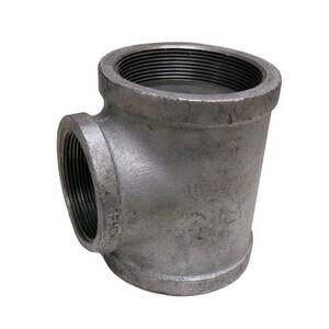 3 x 3 x 2-1/2 in. FNPT Reducing 150# Galvanized Malleable Iron Tee GTMML