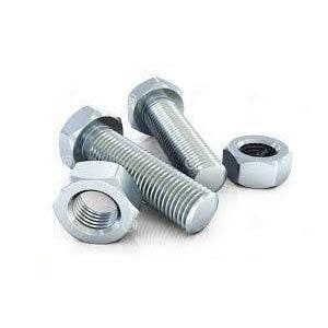 8 in. Plated Flange Insert Set with Bolt and Nut PFISPNBX