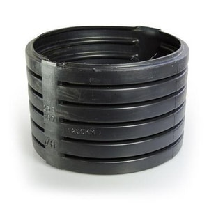 Advanced Drainage Systems N-12® 24 in. Split Corrugated Straight HDPE Single Wall Coupling A2411AA