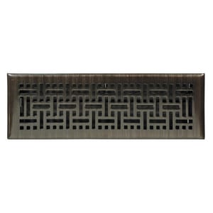 Accord Ventilation Products Wicker 2 x 14 in. for Commercial and Residential Floor Register in Oil Rubbed Bronze Solid Steel AAMFRRBB214