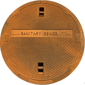 Bass and Hays Foundry 30 in. Sanitary Sewer Lid Only BVRM30LEWSSLO