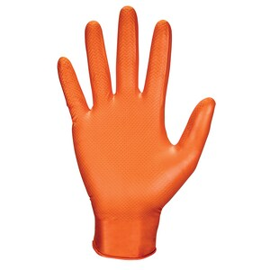 SAS Safety Astro-Grip™ Astro-Grip™ 7 Mil Size X-Large Nitrile Disposable Gloves in Hi-Viz Orange (100 Pack) S66574