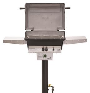AEI Corporation PGS T Series 40000 BTU Cordless Battery Ignition Gas Freestanding Grill with Timer and Two Side Shelve in Black AT40NGAPP