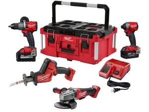 Milwaukee M18™ Cordless 18V 4 Tool Brushless Cordless Combo Kit M299724PO
