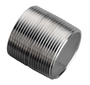 2-1/2 in. x Close MNPT Schedule 40 316L Stainless Steel Weld Threaded Both End Nipple DS46LNCL