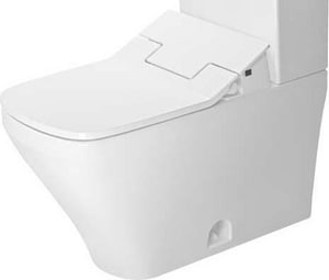 Duravit DuraStyle 1.32 gpf Floor Mount Two Piece Elongated Bowl Closed Front Rough-in Toilet in White D2160510000