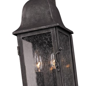 Troy-CSL Lighting 2-Light Incandescent Exterior Wall Sconce in Aged Pewter TB3211