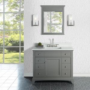 Fairmont Designs Smithfield 42 in. Porcelain Vanity in Grey F1504V42