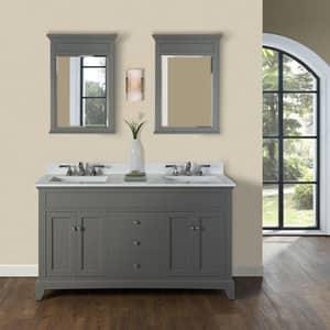 Fairmont Designs Smithfield 60 in. Double Bowl Vanity in Medium Grey F1504V6021D