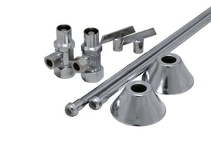 PROFLO® Sink 5/8 in x 3/8 in. x 12 in. Supply Kit in Chrome Plated PFXCAC32CLKL12