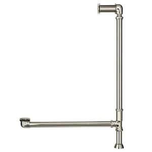 Signature Hardware Extended Brass Toe-Tap Drain in Polished Nickel SH437338