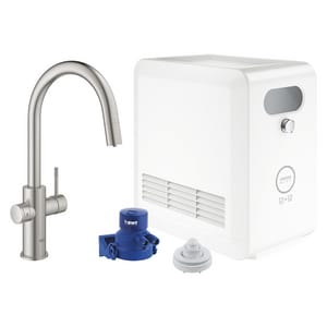 Grohe Blue Professional Single Handle Pull Out Kitchen Faucet In Supersteel 31251dc2 Ferguson