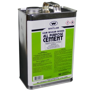 WHITLAM 1 gal Fast Set Plastic Clear Pipe Cement WAPR1