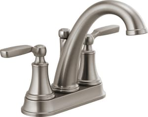Delta Faucet Woodhurst™ Two Handle Centerset Bathroom Sink Faucet in Brilliance Stainless D2532LFSSMPU