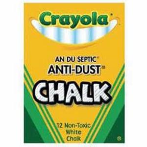Officemax Crayola® Anti Dust Chalk in White (Box of 12) OJ1501402