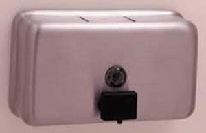 Bobrick Classic Series® 8-1/8 x 4-3/4 x 3-1/2 in. 1.2 L Surface Mounted Soap Dispenser in Satin BOBBOB2112