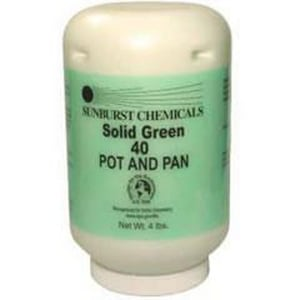 Sunburst Chemicals Solid Green 40 4 lb. Pot and Pan Detergent SUN6040S1