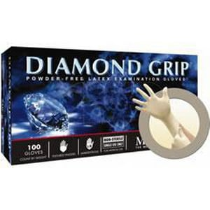Microflex Diamond Grip™ S Size Latex Gloves in Natural MICMF300S