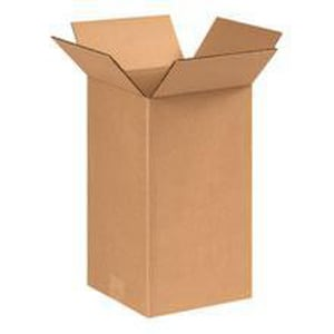 8 x 8 x 14 in. Kraft Plain Corrugated Regular Slotted Carton with 32ECT BOX8814