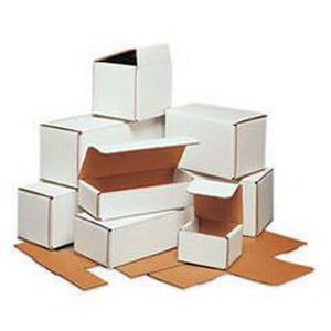7 x 4 x 3 in. Kraft Corrugated Mailer in White with 32ECT (Bundle of 50) BM743
