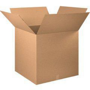 36 x 36 x 36 in. Kraft Plain Double Wall Corrugated Regular Slotted Carton with 48ECT BHD3636DW