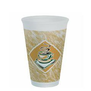 Dart Container ThermoGlaze® 16 oz. Expanded Polystyrene Foam Cup (Case of 1000) D16X16G