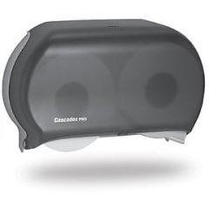 Cascades PRO® Double Roll Jumbo Bath Tissue Dispenser in Black CASDB12