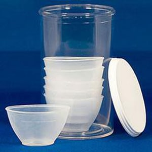 HART Health Plastic Non-sterile Eye Cup (Pack of 6, Case of 6 Packs) H7744