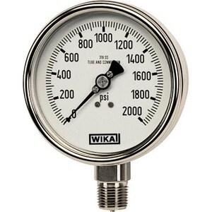 Wika Instrument Bourdon 2-1/2 in. Glycerin Filled Pressure Gauge W98318