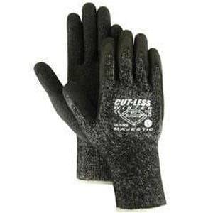 Majestic Glove L Size Nylon, Dyneema® and Spandex Gloves in Grey and White M341570L