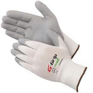 Liberty Glove & Safety G-Grip™ S Size Nylon and Nitrile Gloves in White and Grey LF4630GCSM