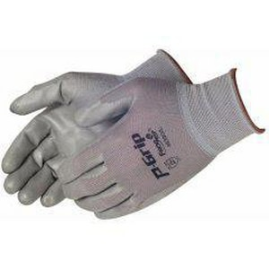 Liberty Glove & Safety P-Grip™ L Size Polyurethane Dipped Nylon Gloves in Grey LP4639GL