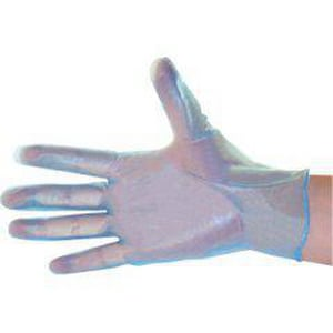 Liberty Glove & Safety M Size Industrial Grade Vinyl Gloves in Blue (Box of 100) LT2916WM
