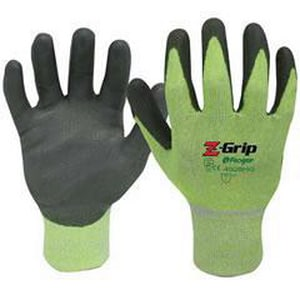 Liberty Glove & Safety Z-Grip™ XL Size Yarn and Polyurethane Gloves in Green L4928HGXLG