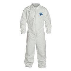 Liberty Glove & Safety Tyvek® XXL Size Elastic Coverall with Zipper Front in White DTY120SXXLG